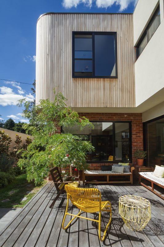 Bardage en bois d'une maison à Morzine.