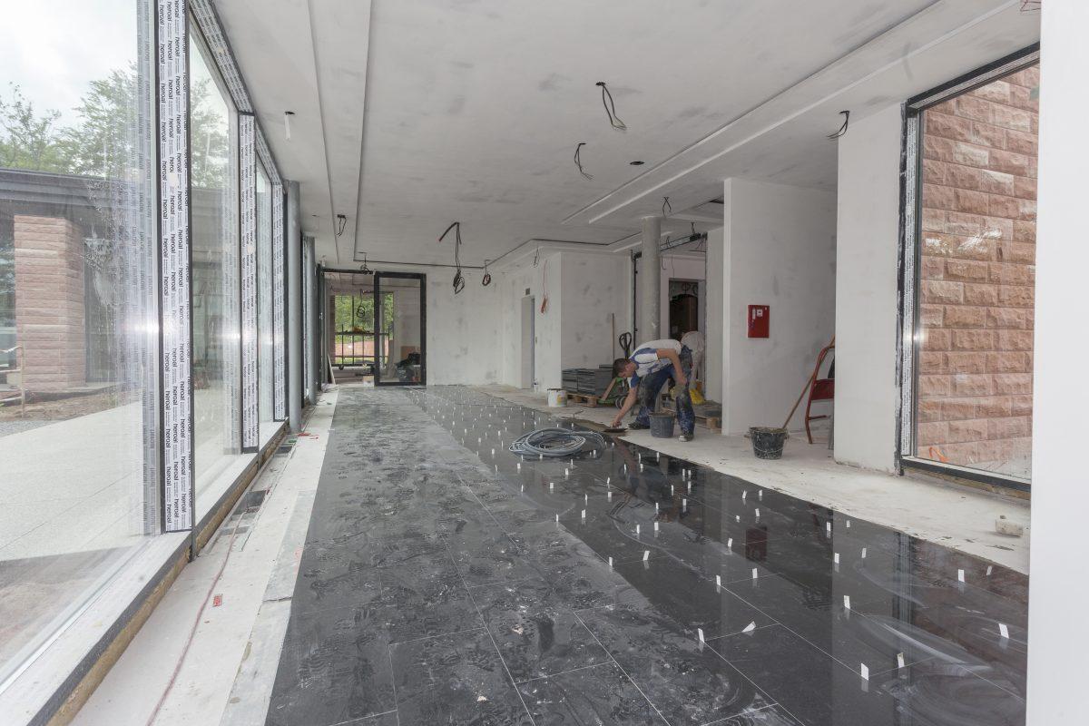 Pose de marbre dans une villa à Chatel