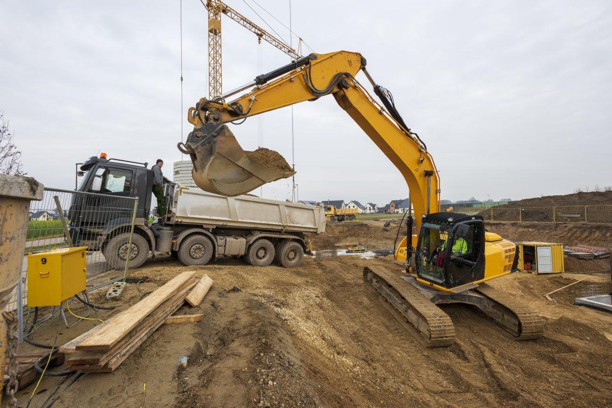 terrassement pour la construction d'une maison à Morzine