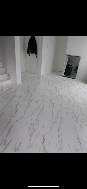 chantier sol en marbre